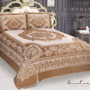 Bella Home Velvet Romance King Size Bedspread Set
